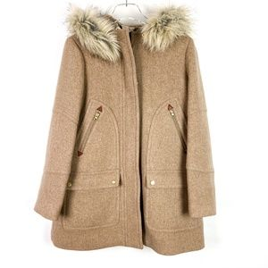 J. Crew Stadium Cloth Chateau Parka NelloGori Wool